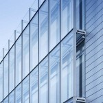 Curtain wall windows against wall