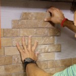 Installing a backsplash that looks like brick
