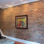 How to make a brick veneer wall behind a stove