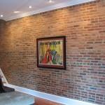 How to make a brick veneer wall behind a stove
