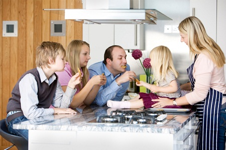 How to design your kitchen family friendly