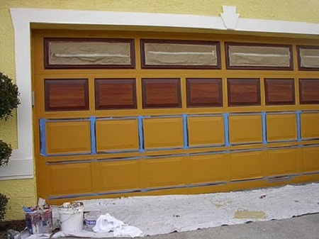 How To Paint Metal Garage Door Home Sweet
