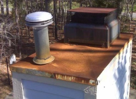 How to remove rust from the chimney
